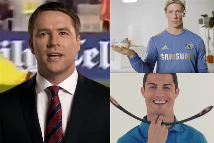Footballers in ads: what were they thinking?