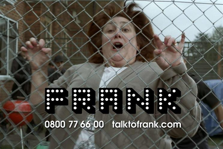 Home Office's 'Talk to Frank' campaign, created by Mother, was launched in 2013