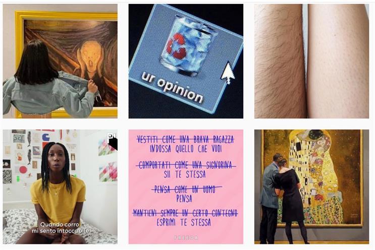 Freeda: Instagram posts