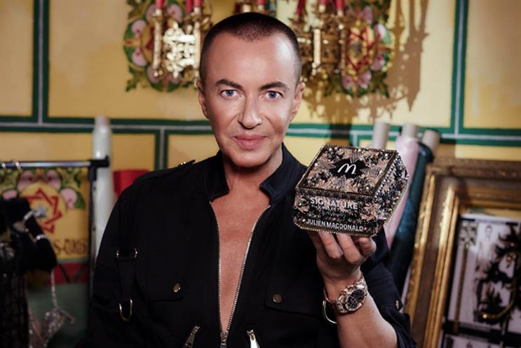 McDonald's UK makes first foray into fashion with 'luxe' burger box by Julien Macdonald
