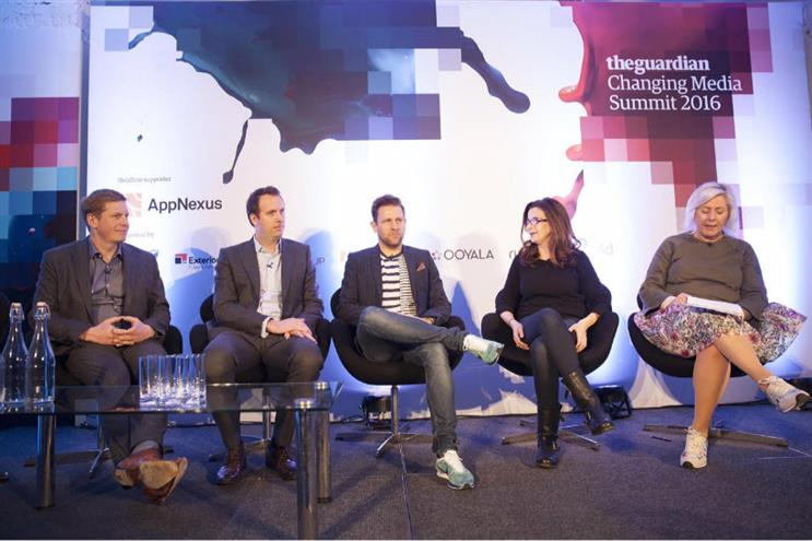 Ad-blocking: Hailo CMO Gary Bramall (centre) says ad-blocking on mobile is a distraction