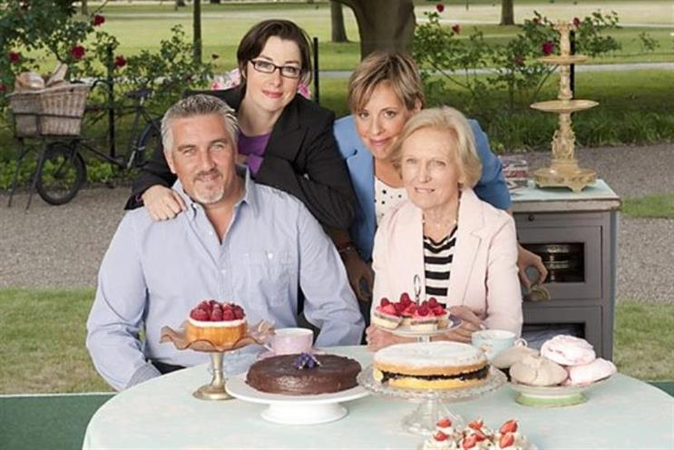 Great British Bake-Off (L-R): Hollywood, Perkins, Giedroyc, Berry