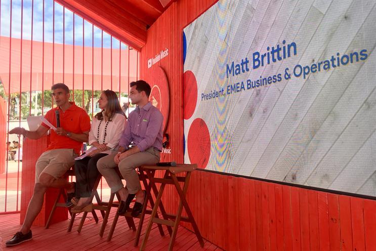 Panel (L-R): Matt Brittin, president of Google EMEA; Weinstein; and Bart Jenniches, director of Google VR/AR