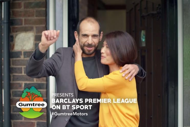 Gumtree: BT Sport's Premier League sponsor after William Hill