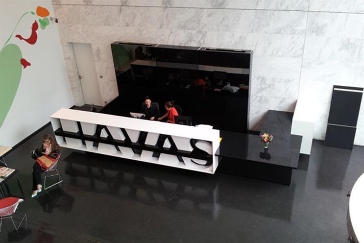 The lobby of Havas' Paris office