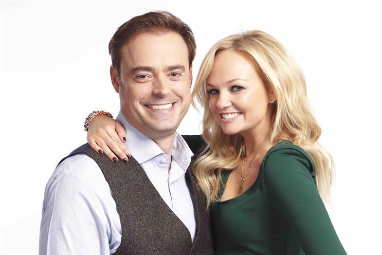 Jamie Theakston and Emma Bunton: they will be launching the new station