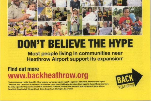 Heathrow: regional press ad banned by ASA