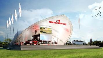 Honda's race track at Goodwood Festival 2014