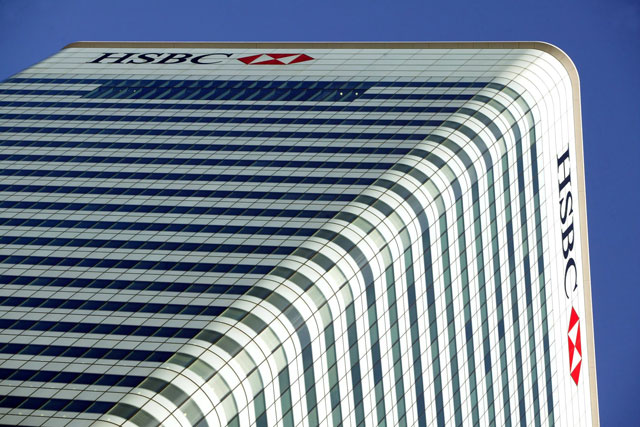 HSBC: bank's headquarters at London's Canary Wharf