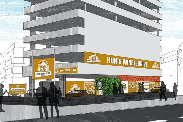Hun: American style drive-thru will be serving Hun Alcohol Free