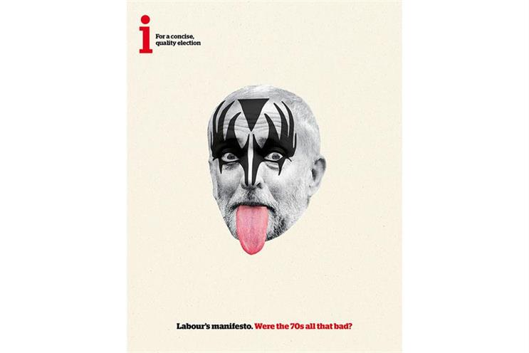 i: this year's general election ad depicted Labour leader Jeremy Corbyn as a member of Kiss