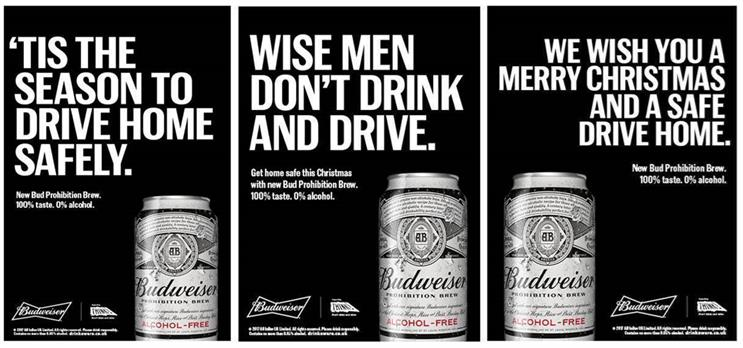 Budweiser's booze-free beer Prohibition stars in anti-drink drive Christmas campaign