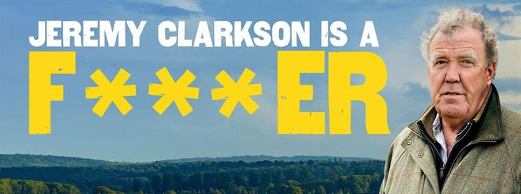 The campaign promotes Jeremy Clarkson's newest adventure – buying and running a farm