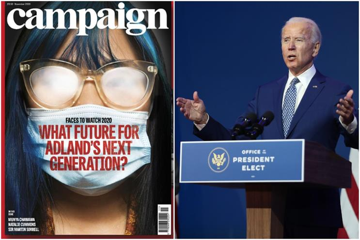 November wins: Campaign's latest issue and US president-elect Joe Biden