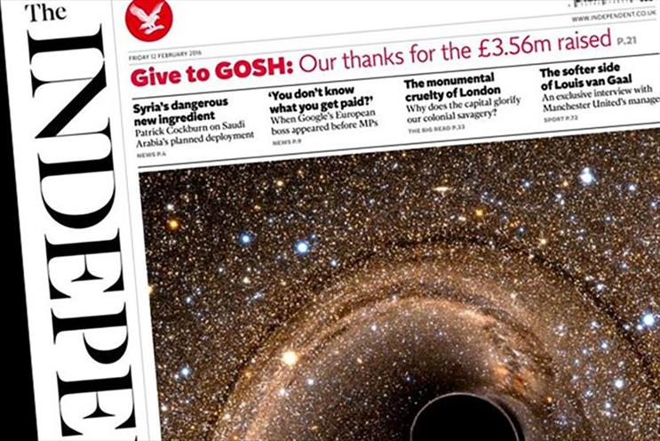 Independent: became a digital-only publication in March