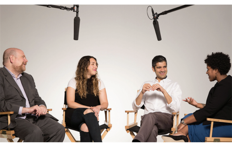 From left: R/GA's Philip Rackin, Stefanie Hoffman, Saneel Radia, and Tara Moore.