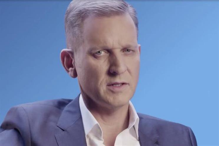 Jeremy Kyle in Racing UK's television ad