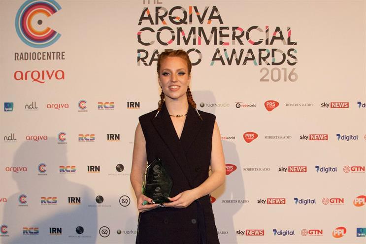 Jess Glynne: won the breakthrough UK artist of the year award