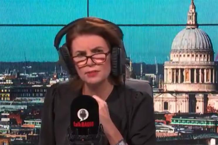 TalkRADIO: breakfast presenter Julia Hartley-Brewer discussed the ban this morning (Picture: talkRADIO/Twitter)
