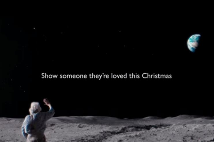 The new advert by Adam&eveDDB depicts an older man on the moon