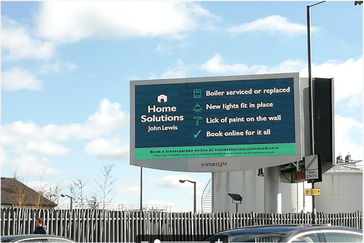 John Lewis: launched programmatic DOOH campaign last year