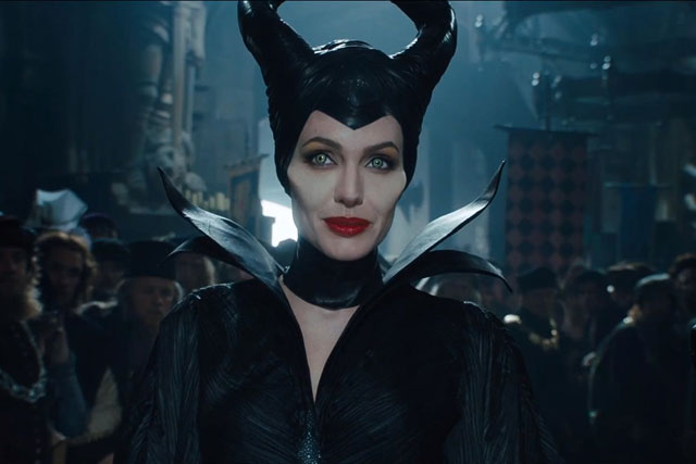 Angelina Jolie: pictured in a scene from the upcoming Disney film Maleficent