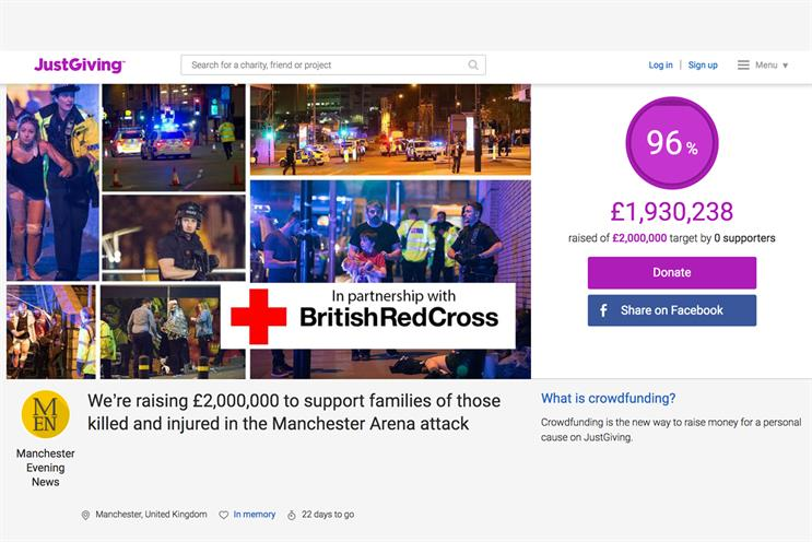 Manchester Evening News: supporting people involved in last week's terrorist attack
