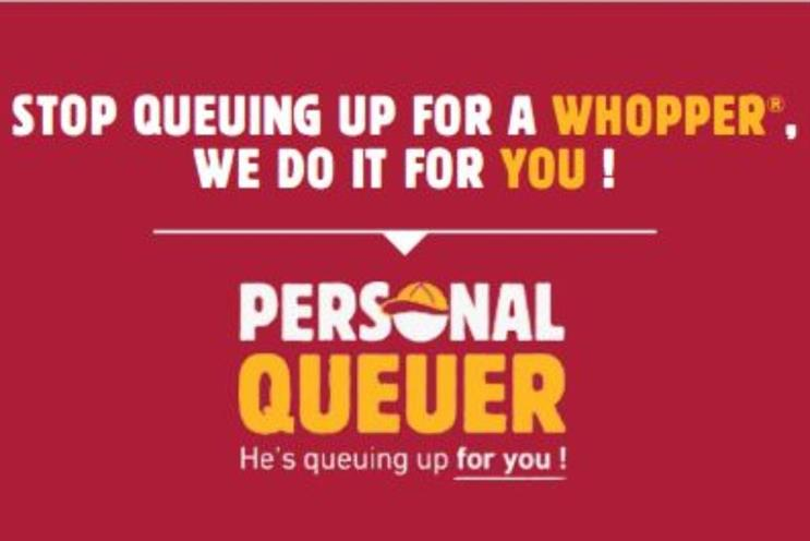 Burger King: fast food chain wants to help alleviate queuing fatigue