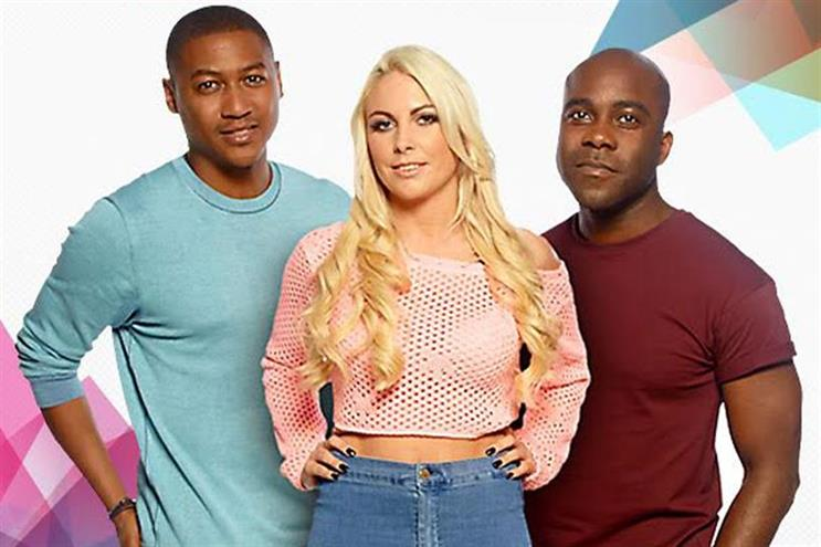 Kiss FM breakfast presenters: Rickie Haywood Williams, Charlie Hedges and Melvin O'Doom