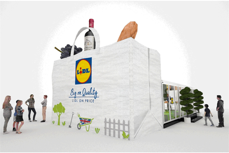 Lidl creates giant bag-for-life installation for northern tour