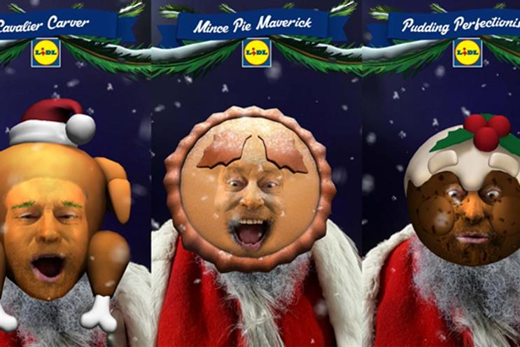 Lidl: 360i created festive Facebook game featuring Brian Blessed