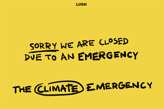 Lush: closed its stores last September as part of a climate strike