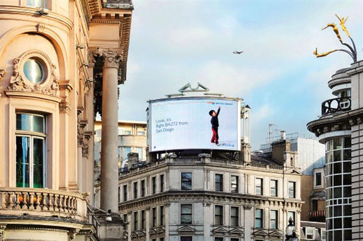 British Airways' 'magic of flying' won more than 30 awards last year, including the Grand Prize in the Clear Channel Outdoor Planning Awards 2014