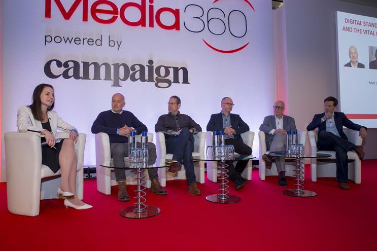 From left: Eleni Marouli, head of market developments, Ofcom; Ian Dowds, CEO of Ukom; Stockbridge; Nick North; BBC; Manning and Tomlinson
