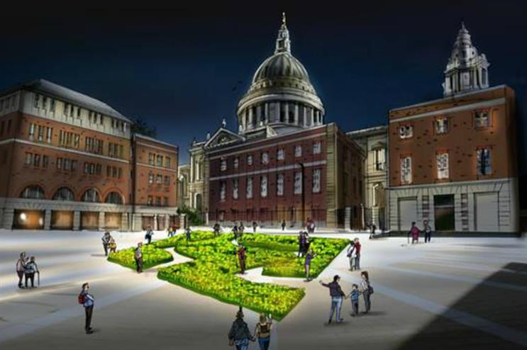 Marie Curie will create a 'Garden of Light' in London's Paternoster Square in March
