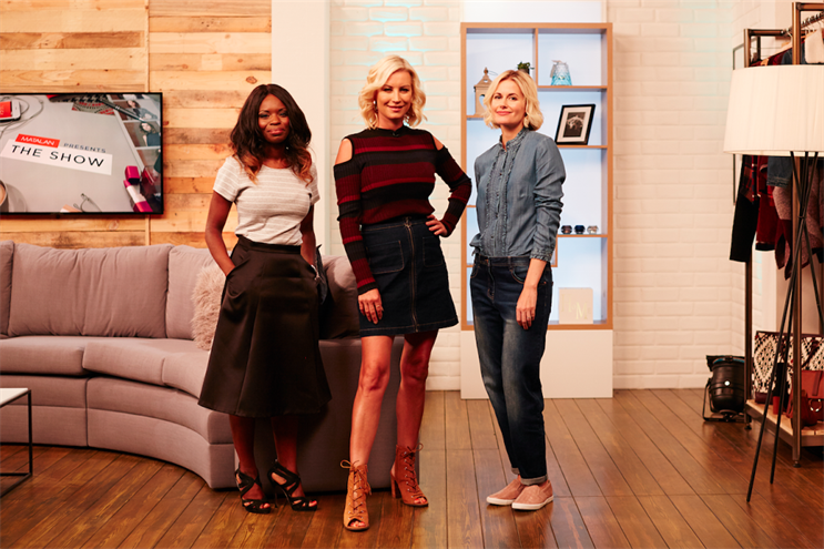 Matalan: online show presented by Denise Van Outen (centre)