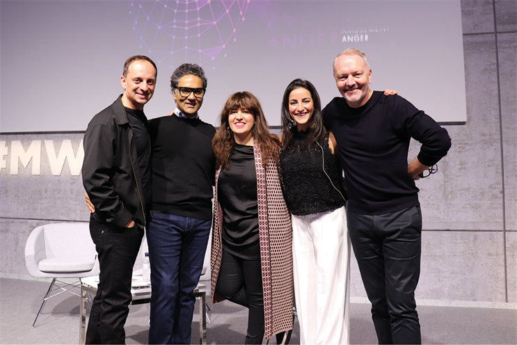 The team from McCann Worldgroup in Europe (l-r) : Dr Rodney Collins, Harjot Singh, Monica Moro*, Mariam Asmar** and Jon Carney at Mobile World Congress 2019