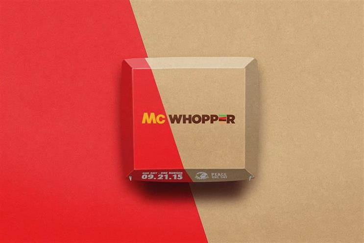 McWhopper: Burger King's campaign, created by Y&R NZ Auckland, won this year's Grand Prix