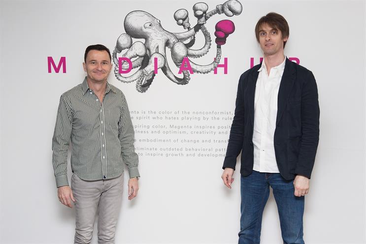 MullenLowe Mediahub Performance: John Moore (left) and Ross Jenkins