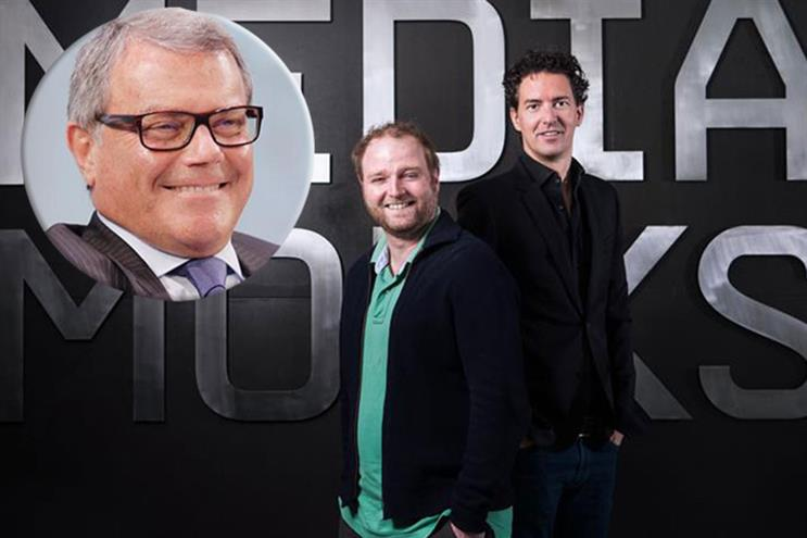 MediaMonks: Sorrell (insert) with agency founders Wesley ter Haar and Victor Knaap