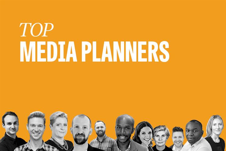 Top media planners: Florence, Gayfer, Fox, Kirk, De Burca, Myers-Lamptey, Smith, Weavers, Hallam, Nwosu and Budimlija