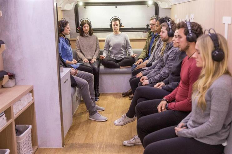 'Om the move' meditation bus from Lululemon Athletica