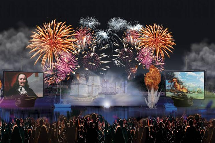 An artist's impression of the event in June 2017