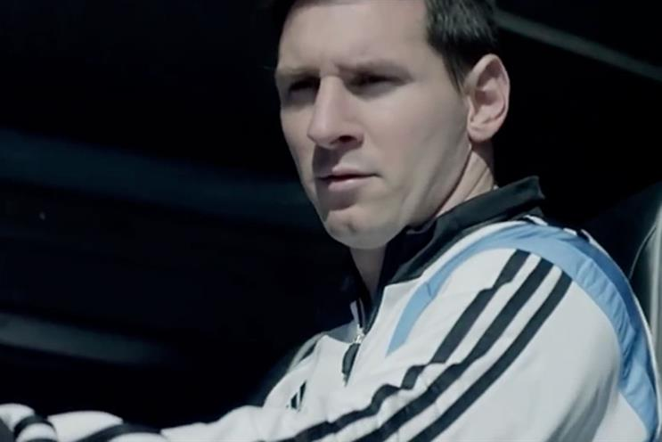 Lionel Messi: stars in the Adidas campaign