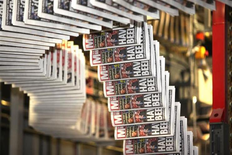 Daily Mirror: like-for-like revenue is down 4% for past five months