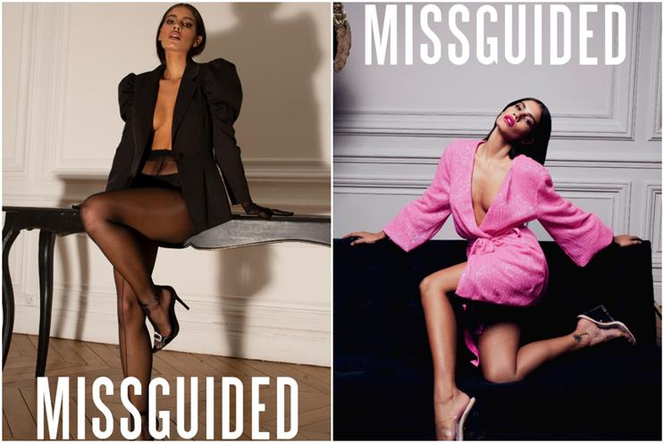 Missguided: ASA banned ad on left