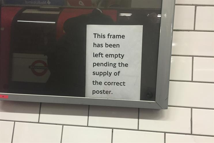 Why make a poster telling us there's no ad on a poster site?