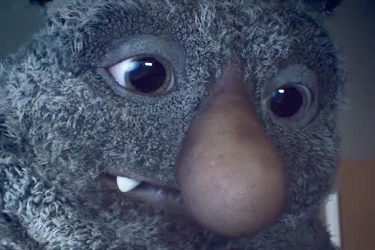 Moz the monster: cuddly face of this year's John Lewis Christmas ad