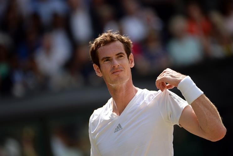 Wimbledon: Andy Murray during last year's quarter-finals
