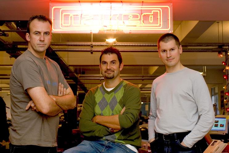Naked founders: John Harlow, Jon Wilkins and Will Collin